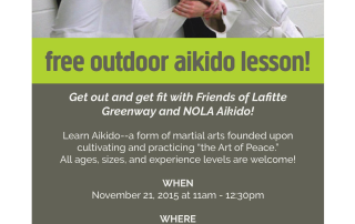 NOLA Aikido Flyer Lafitte Greenway November Outdoor Class Flyer-page-001